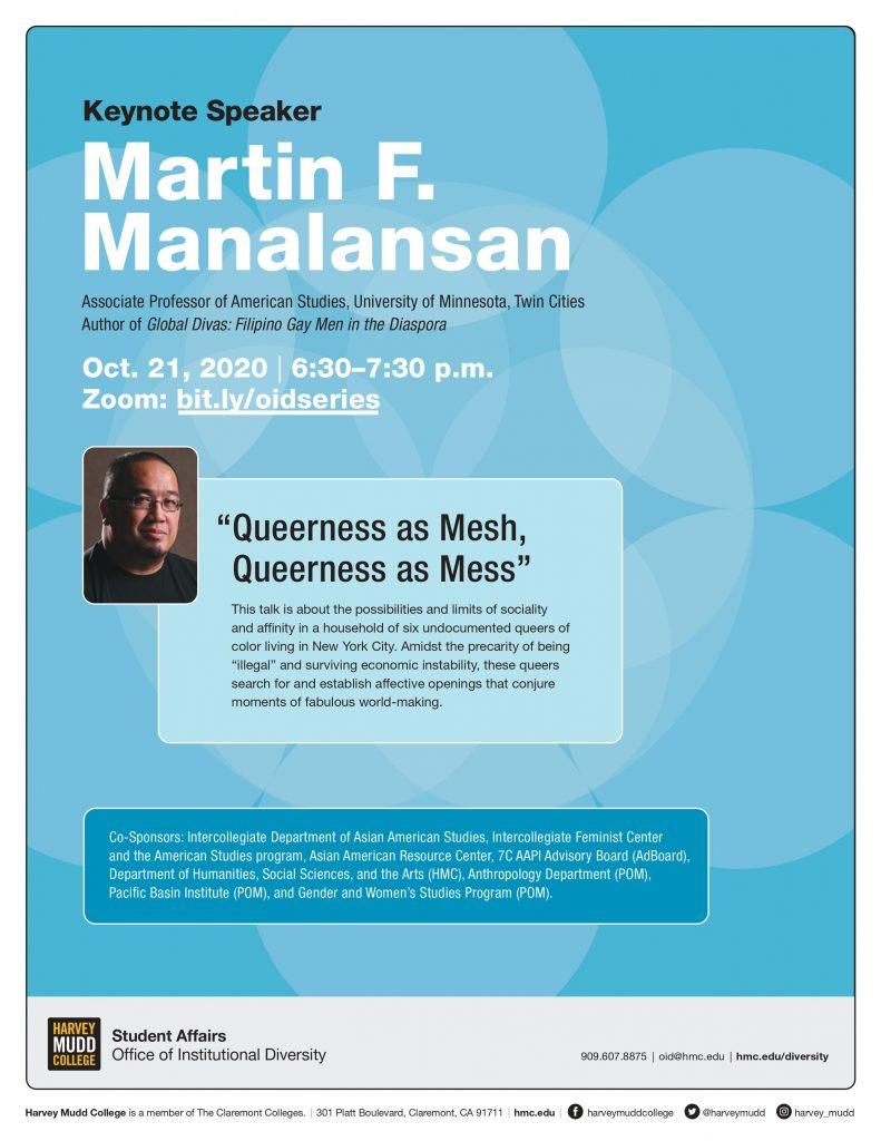 Martin F. Manalansan event flyer